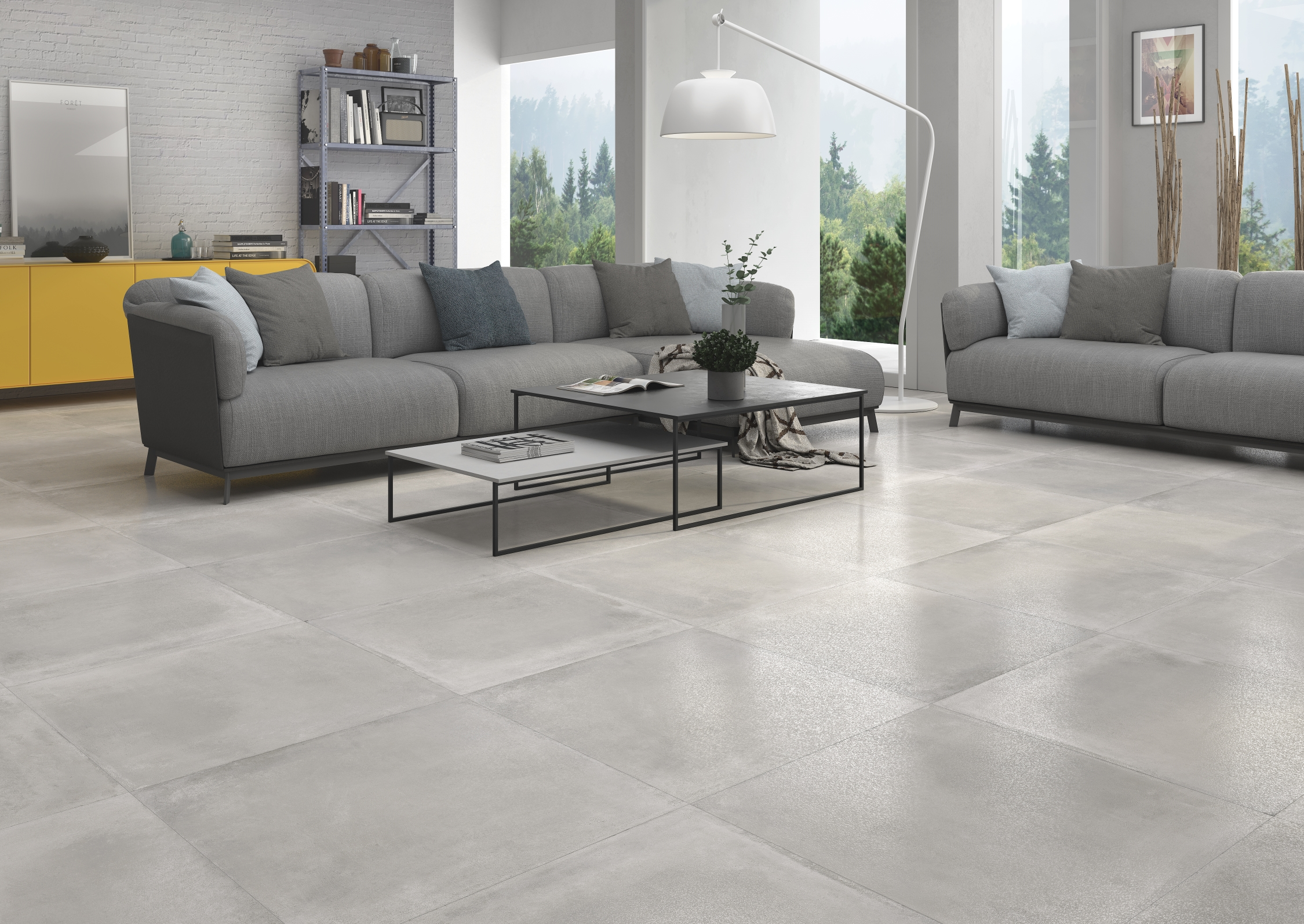 60×60 Madox Gris Finition Lapatto RECT