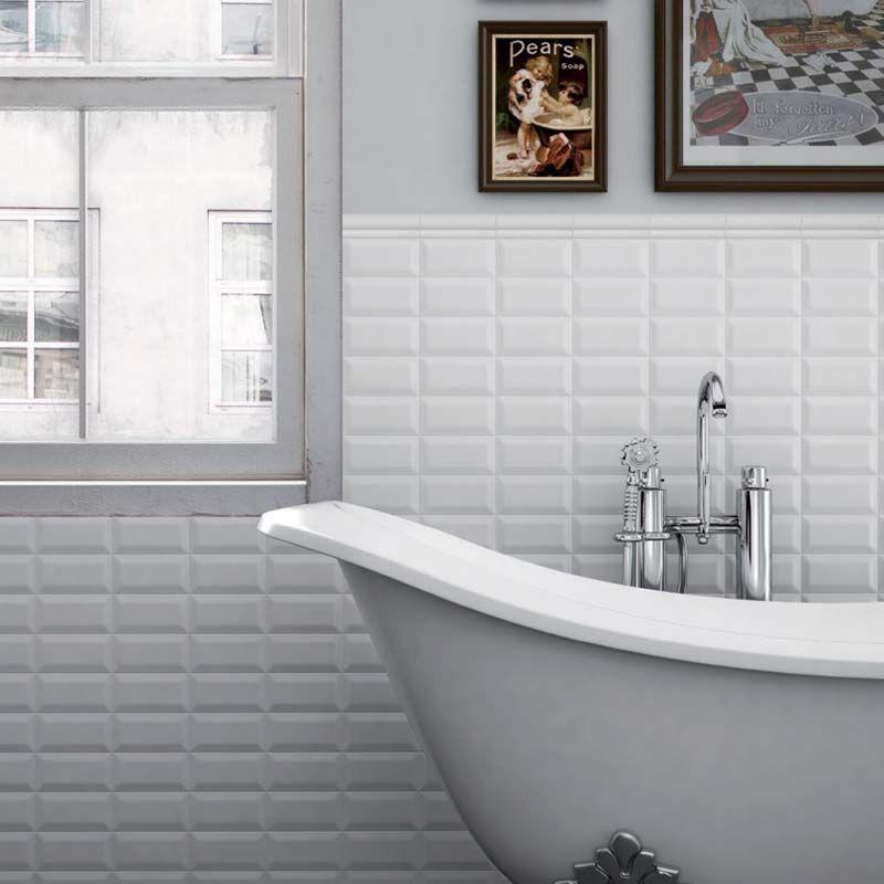 07.5×15 Metro Blanc Brillant